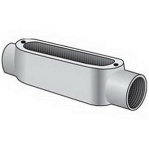 "OZ Gedney C-75 Conduit Body, Type: C, Size: 3/4"", Form 5, Malleable Iron"