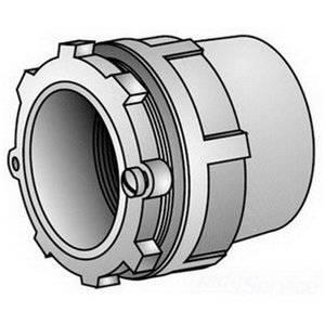 "OZ Gedney CH-250T Conduit Hub, Type: Space-Maker, Size: 2-1/2"", Insulated, Malleable"