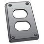 OZ Gedney FS-1-DCS Duplex Receptacle Cover, 1-Gang, Steel