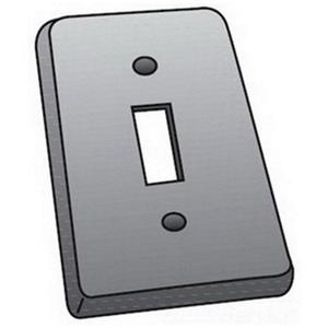 OZ Gedney FS-1-SCS Switch Cover, 1-Gang, Steel