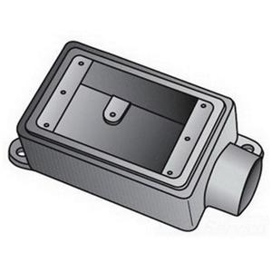 """OZ Gedney FS150 FS Device Box, 1-Gang, Dead-End, Type FS, 1/2"""", Malleable Iron"""
