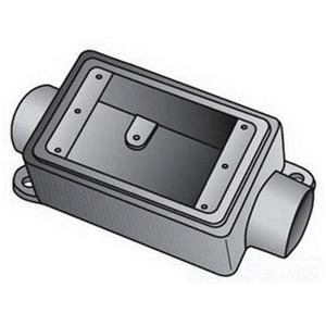 "OZ Gedney FSC150 FS Device Box, 1-Gang, Feed-Thru, Type FSC, 1/2"", Malleable Iron"
