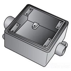 "OZ Gedney FSC275 FS Device Box, 2-Gang, Feed-Thru, Type FSC, 3/4"", Malleable Iron"