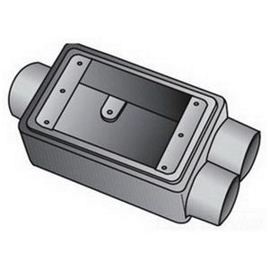 "OZ Gedney FSCC175 FS Device Box, 1-Gang, Feed-Thru, Type FSCC, 3/4"", Malleable Iron"