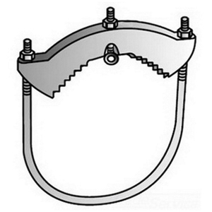 """OZ Gedney G-350G Cold Water Ground Clamp, 2-1/2"""" to 3-1/2"""" Pipe, Malleable"""