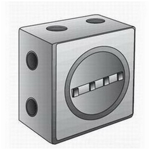 "OZ Gedney GUEB13-75AN4 Outlet Box, GUEB, (13) 3/4"" Hubs, Aluminum"