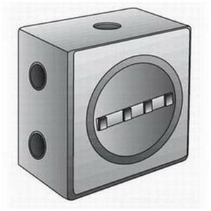 "OZ Gedney GUEB7-100AN4 Outlet Box, GUEB, (7) 1"" Hubs, Aluminum"
