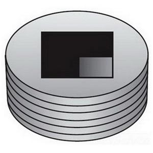 "OZ Gedney PLG75R Close-Up Plug, Square Head, 3/4"", Explosionproof, Steel"