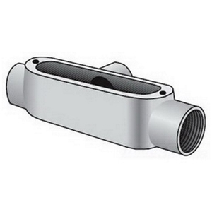 "OZ Gedney T-100G Conduit Body, Type: T, Size: 1"", Spec 5, Material: Malleable Iron"