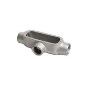 """OZ Gedney T100A Conduit Body, Type: T, Size: 1"""", Form 85, Aluminum"""