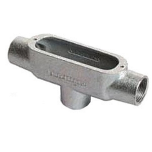 "OZ Gedney TB-100 Conduit Body, Type: TB, Size: 1"", Spec 5, Material: Malleable Iron"