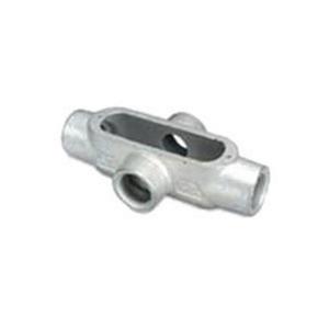 "OZ Gedney X-50 Conduit Body, Type: X, Size: 1/2"", Spec 5, Material: Malleable Iron"