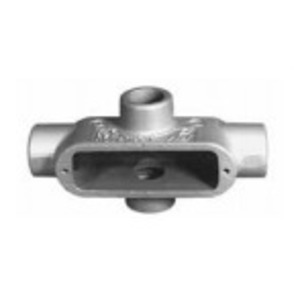"OZ Gedney X-75G Conduit Body, Type: TB, Size: 3/4"", Spec 5, Material: Malleable Iron"