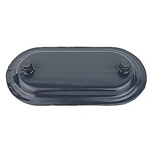 """Ocal 370F-G PVC Coated Conduit Body Cover, Size: 1"""", Form 7, Iron/PVC Coated, Gray"""