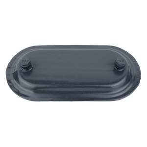 """Ocal 470F-G PVC Coated Conduit Body Cover, Size: 1-1/4"""", Form 7, Iron/PVC Coated, Gray"""