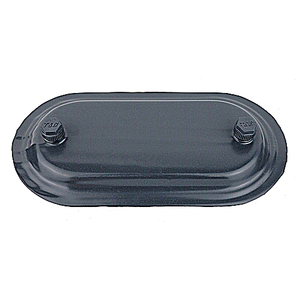 """Ocal 670F-G PVC Coated Conduit Body Cover, Size: 2"""", Form 7, Iron/PVC Coated, Gray"""