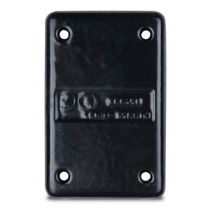 Ocal DS100-G PVC Coated Device Cover, FS/FD Blank cover, 1-Gang, Aluminum