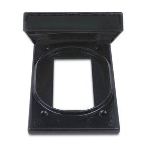 Ocal FSKWGF1-G Device Cover, 1-Gang, PVC Coated Aluminum
