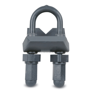 """Ocal RA11/4-G Right Angle Beam Clamp, Size: 1-1/4"""", Malleable Iron/PVC Coated"""