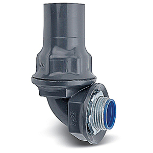"Ocal ST190-G Liquidtight Connector, 90°, 1"", PVC Coated Steel"