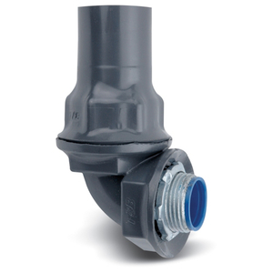 "Ocal ST3/490-G PVC Coated Liquidtight Connector, 90°, 3/4"", PVC Coated Steel"