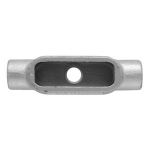 "Ocal TB37-G PVC Coated Conduit Body, Type TB, Size: 1"", Form 7, Iron/PVC Coated"