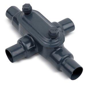 "Ocal X38-4X-G Conduit Body, 1"", Iron/PVC Coated"