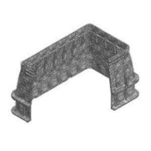 "Oldcastle Precast 02001165 Extension for Underground Enclosure, Fibrolite, 36 x 8"", Composite"
