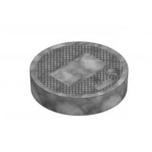 "Oldcastle Precast 02006125 Round Cover, Type: Flush Solid, Diameter: 9"", Composite"