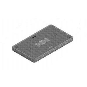 "Oldcastle Precast 02006395 Rectangular Cover, Type: Flush Solid, Size: 17 x 30"", Composite"