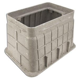 "Oldcastle Precast 02011000 Underground Rectangular Box, 10"" x 15"" x 12"", Composite"