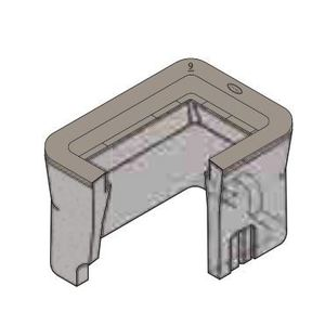 """Oldcastle Precast 1000100 Extension, Height: 12"""", For Use With B16 Box, Reinforced Concrete"""