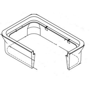 """Oldcastle Precast 1000245 Extension, Height: 10"""", For Use With N48 Box, Reinforced Concrete"""