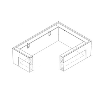 """Oldcastle Precast 1000320 Extension, Height: 12"""", For Use With B3048 Box, Reinforced Concrete"""