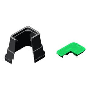 "Oldcastle Precast 1419-12-4-GREEN-ELECTRIC Rectangular Pull Box, 14"" x 19"" x 12"", Green"