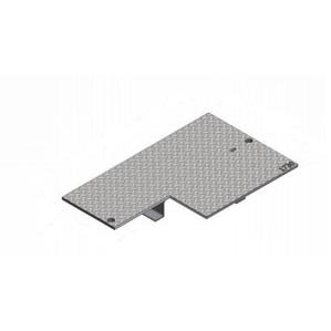 """Oldcastle Precast B1730-61JH-COMMUNICATION Rectangular Cover, 17 x 30"""", Flush Type, Steel"""