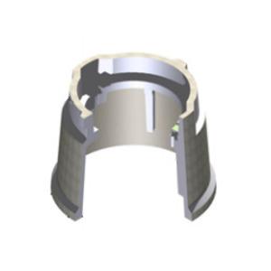 "Oldcastle Precast DNU-0910104HGE206UO Round Pull Box, Diameter: 9"", Depth: 10"", ELECTRIC-Lid, Concrete"