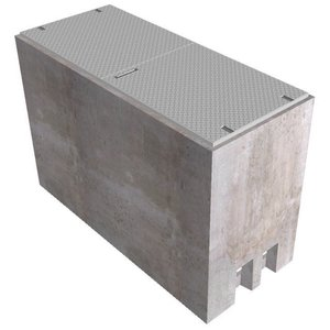 Oldcastle Precast POST6X6X96 Underground Box, Post 6 x 6 x 96, Concrete