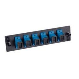 Optical Cable 616SC Adapter Plate, 6-Port, SC, Multi-mode/Single-mode, Metal Sleeve