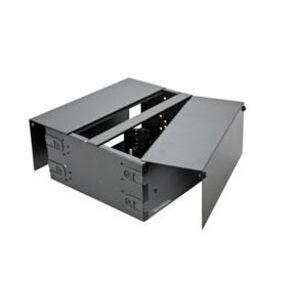 Optical Cable RSC-1UB Enclosure, Rack Mount, 48 Splice Capacity, 1RMU, Empty, Black