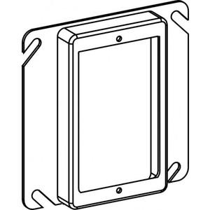 "Orbit Industries 41058 4"" Square Cover, Mud Ring, 1-Device, 5/8"" Raised"