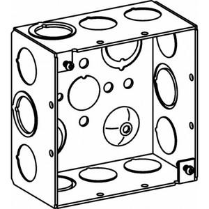 "Orbit Industries 4SDB-MKO 4"" Square Box, Welded, Metallic, 2-1/8"" Deep"