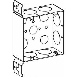 "Orbit Industries 5SDB-100-FB 4-11/16"" Square Box, Welded, Metallic, 2-1/8"" Deep, Flush Bracket"