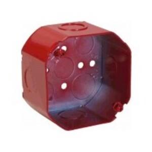 """Orbit Industries FA-4RDB-MKO 4"""" Octagon Fire Alarm Box, 2-1/8"""" Deep, 1/2 & 3/4"""" Knockouts, Steel"""