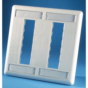 Ortronics 40300555 Faceplate, trac Jack,6hole,dg,pc