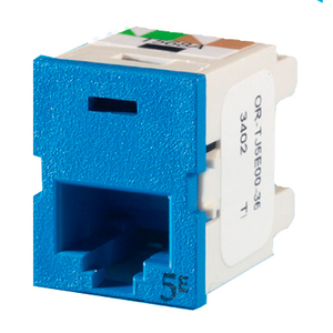Ortronics TJ5E00-36 Blue Category 5e Snap in Connector, TracJack