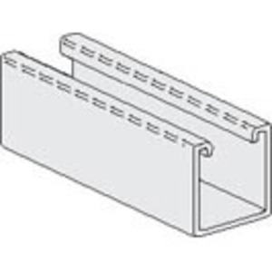 """PHD Manufacturing S1001PG Channel, No-Holes, 1-5/8"""" x 1-5/8"""" x 10', Steel, Electro-Galvanized"""