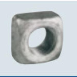 """PPC Insulators 1082 Square Nut, Galvanized, 5/8"""""""