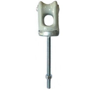 PPC Insulators 1996 Insulated Wireholder, Type: Bolt and Nut, Porcelain Insulator