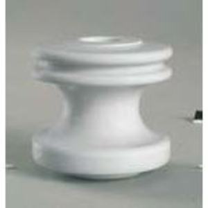 "PPC Insulators 5101 Insulator, Type: Strain/Spool, 3 x 3-1/8"", Porcelain, White"